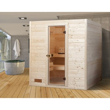 sauna traditionnel 3 places modele oland 2 weka livraison incluse